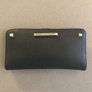 Rebecca Minkoff Black Ava Saffiano Leather Wallet